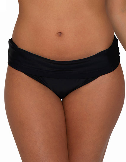 Curvy Kate Maya Fold Over Bikini Brief Black