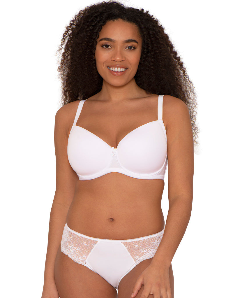 Ivory Rose T-Shirt Moulded Bra White