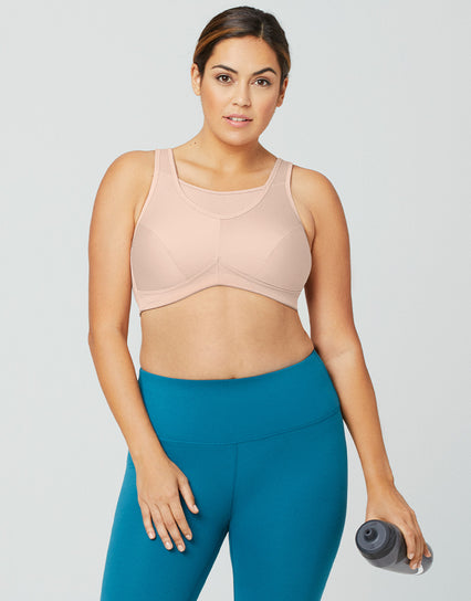 Glamorise No-Bounce Cami Sports Bra Cafe Nude