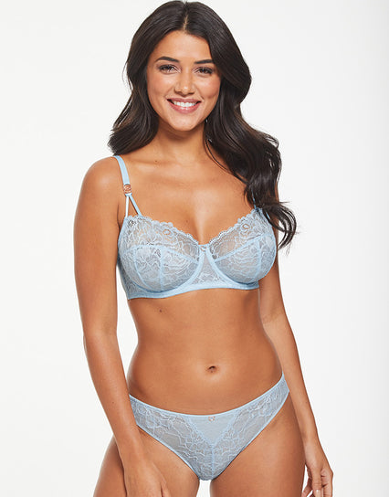 Figleaves Olivia Lace Full Cup Bra Ice Blue