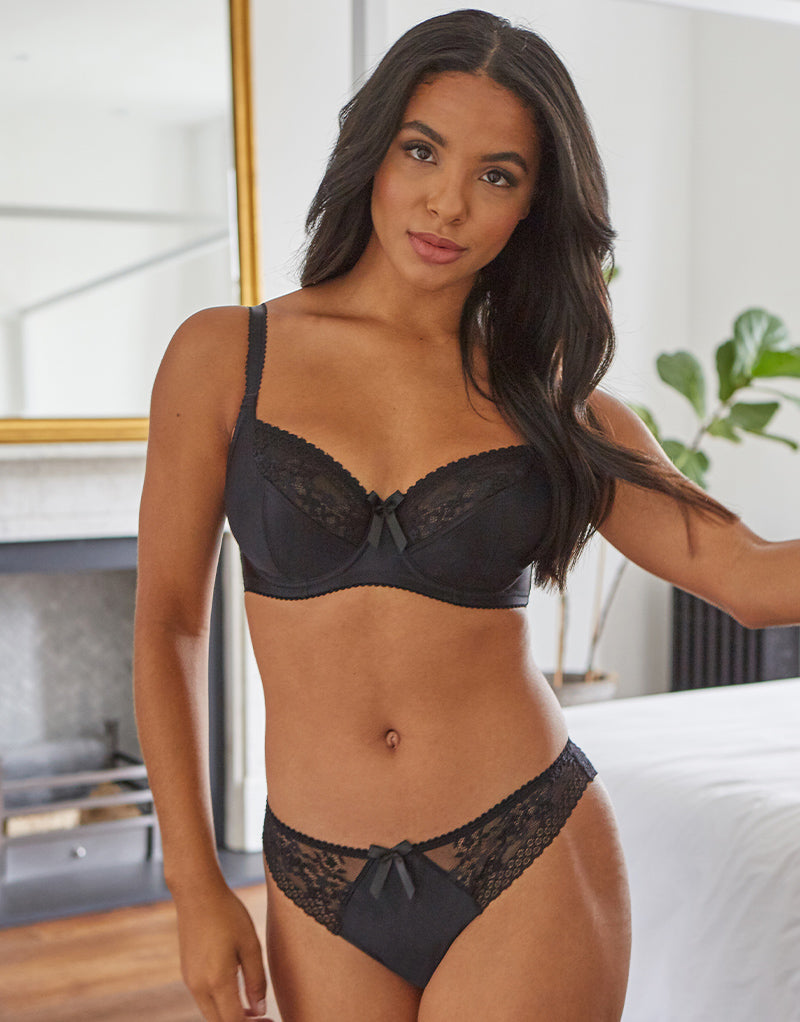 Pour Moi Madison Balconette Bra Black