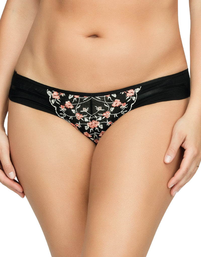 Parfait Briana Brief Black Floral
