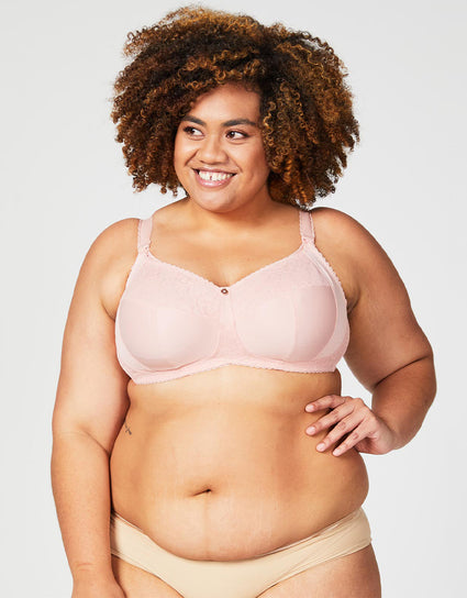 Cake Maternity Tea Non Wire Nursing Bra Blush