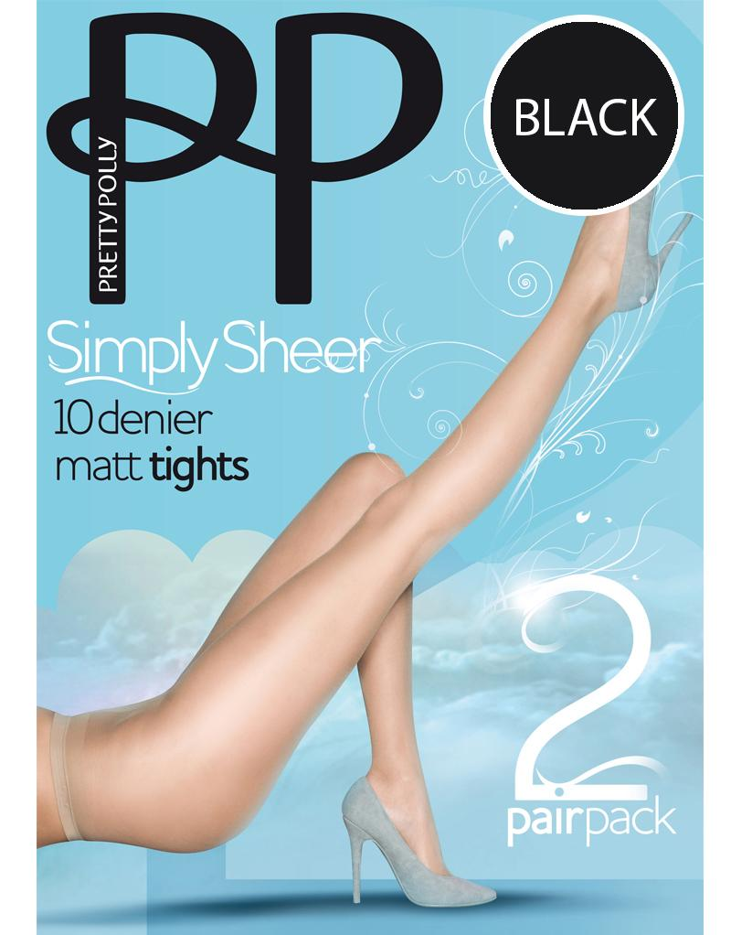 Pretty Polly 10D Matt Tights 2PP Black