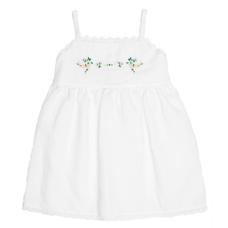 Botanical Flower Print | Baby Embroidered Dress