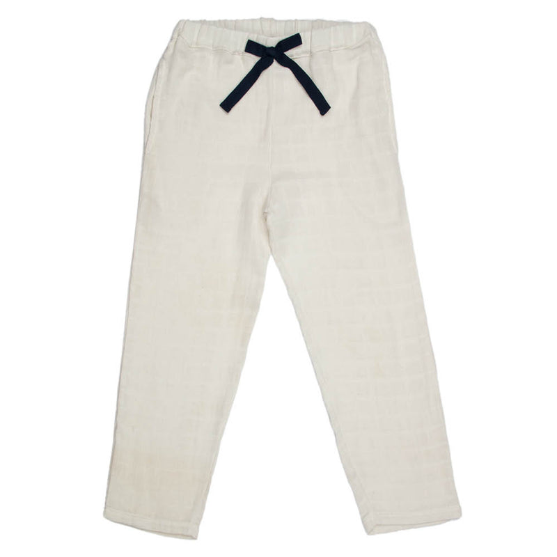 Gauze | Kid's Unisex Embroidered Set | Stone