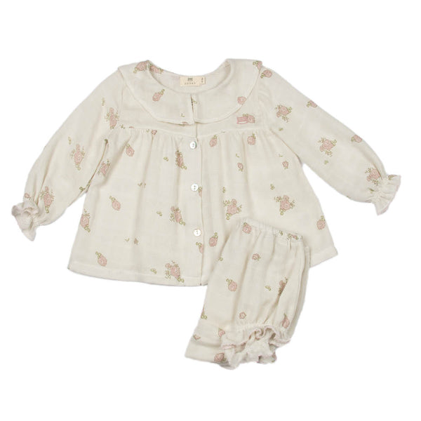 Peoney Flower Print | Baby Set