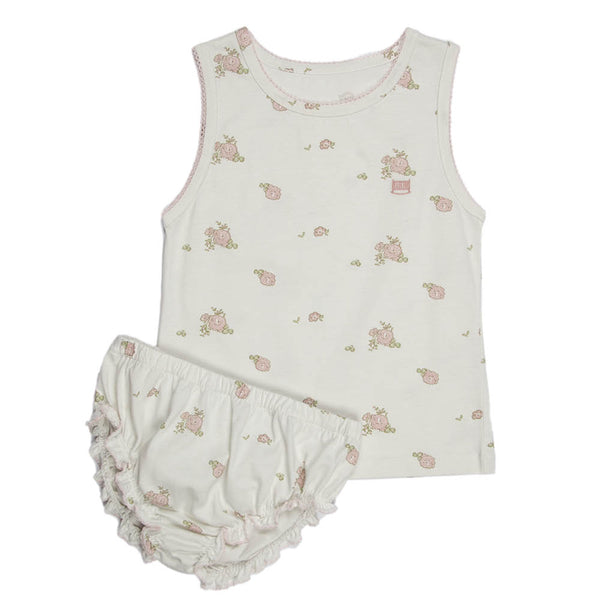 Peoney Flower Print | Girl's Jersey Set