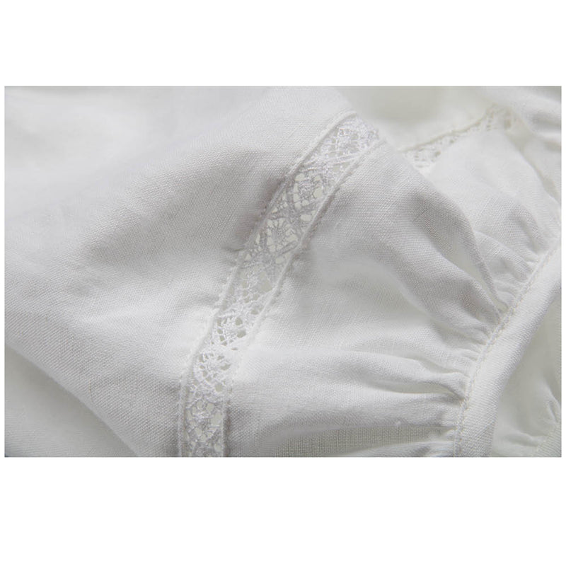Lace Linen | Girl's Embroidery Dress Dove