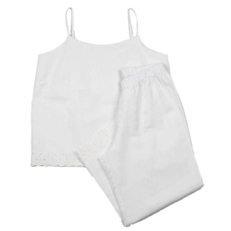 Lace Linen | Woman's Embroidered Set Dove