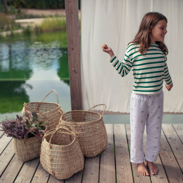 Ivory & Moss Stripe |  Kid's Sweatshirt