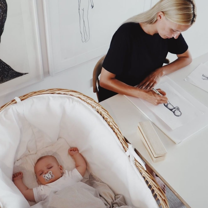 Cotton Piqué Bumper for Iconic Crib