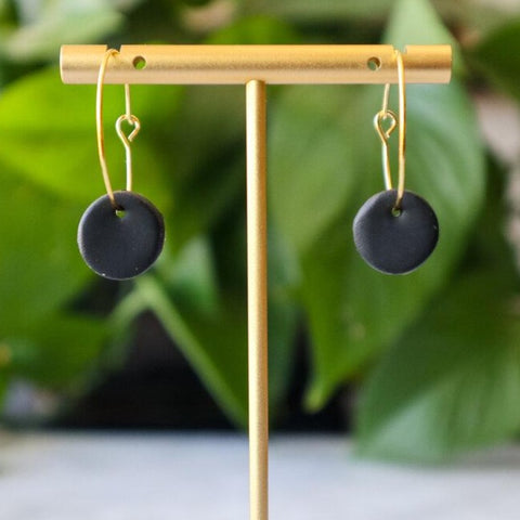 Black & Gold Hoops