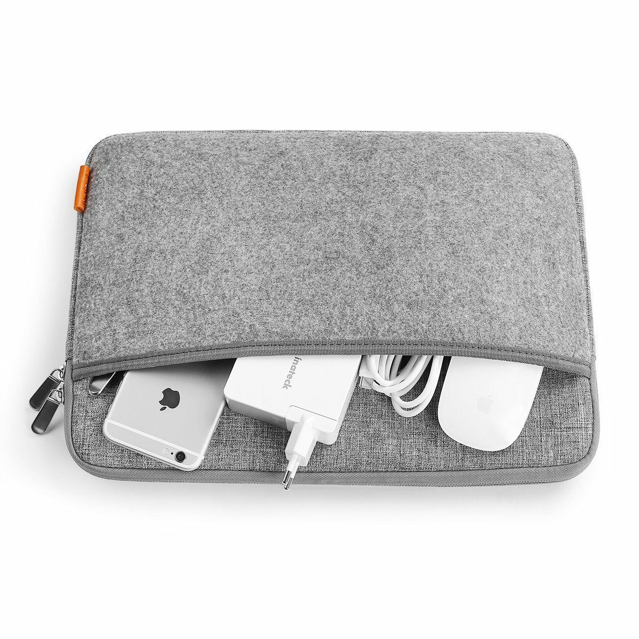 Inateck 13 Inch MacBook Air/Pro Felt Laptop Sleeve LB01001, Light Gray