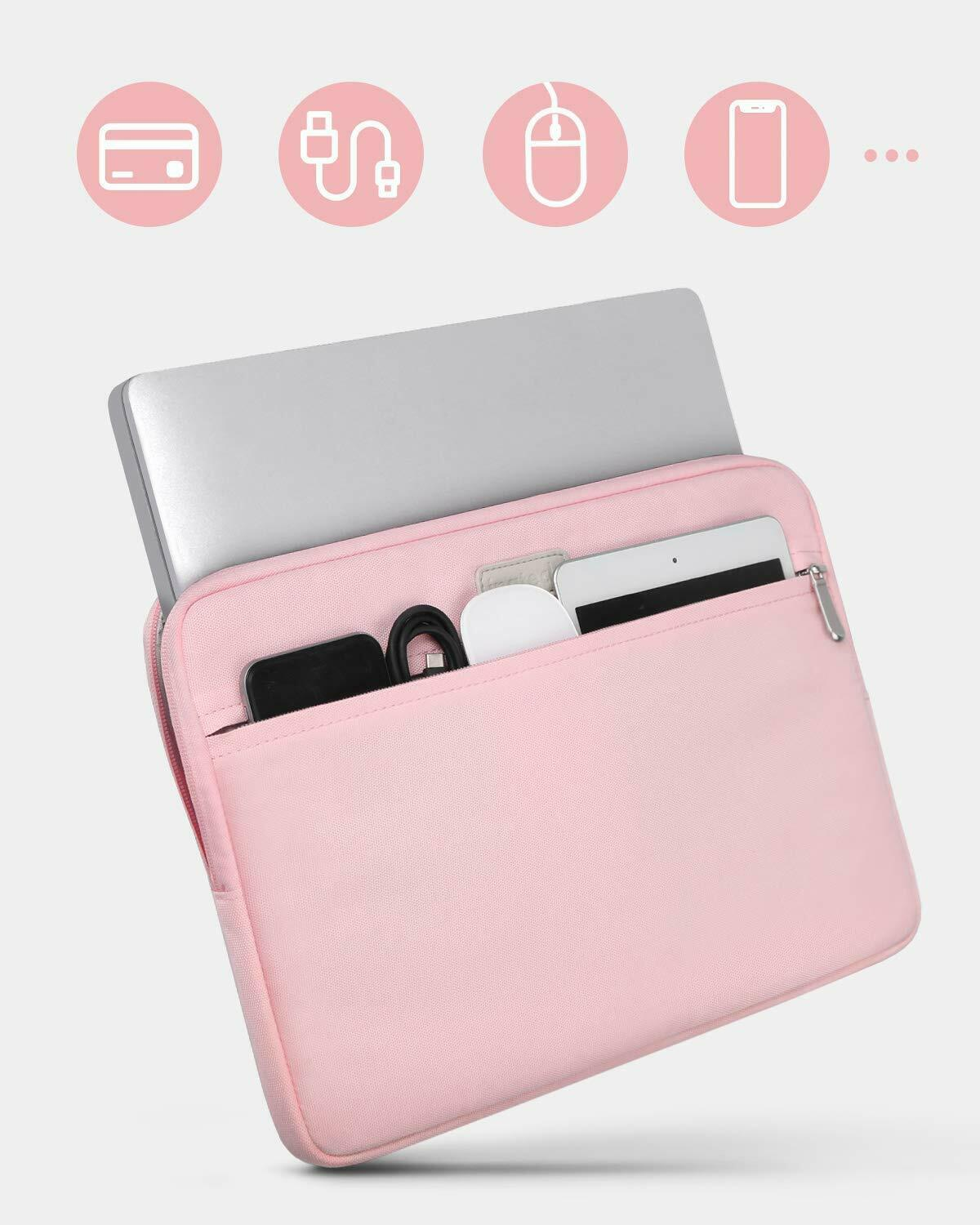 Inateck 13 Inch MacBook Air/Pro Retina Laptop Sleeve LC1300S, Pink