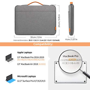 12.3-13 Inch MacBook Pro/Air/Surface Pro/Tablet Laptop Sleeve Case LB02003, Dark Gray - Inateck Backpacks