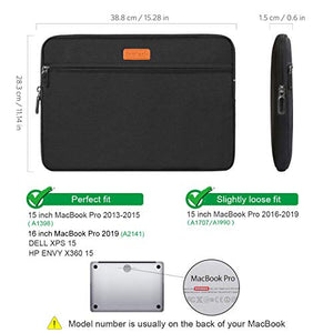 Inateck 15-16 Inch Laptop Sleeve LC1500B, Black