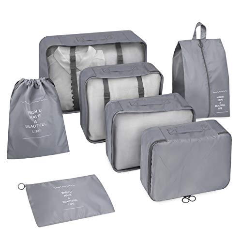 Inateck 7 Set Travel Packing Cubes AB04001, Gray