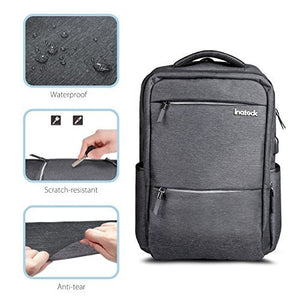 Inateck 15.6 Inch Laptop Backpack with USB-C Port, CB1001 Dark Gray