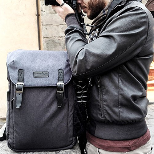 Inateck Camera Backpack Shockproof Bag Case for DSLR/SLR/Mirrorless Camera with Laptop Compartment, Rain Cover, Tripod Holder