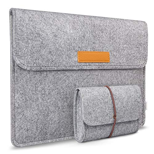 Inateck 14 Inch Felt Laptop Laptop Sleeve MP1504,  Light Gray