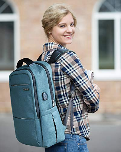 15.6 Inch Laptop Backpack with USB Port CB1001, Blue - Inateck Backpacks