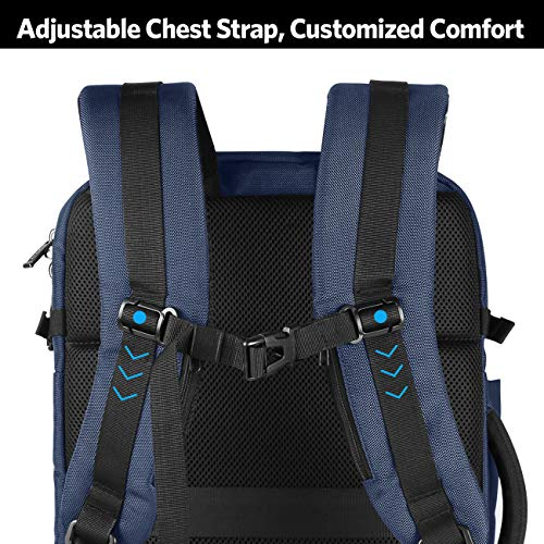 Inateck 40L 17 Inch Carry On Travel Backpack, BP03001 Blue