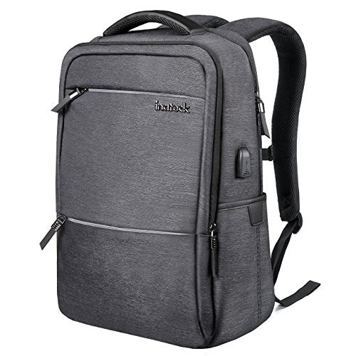 15.6 Inch Laptop Backpack with USB Port CB1001, Black - Inateck Backpacks