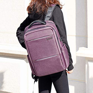 Inateck 15.6 Inch Laptop Backpack with USB Port CB1001, Purple