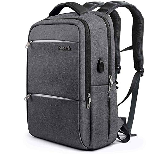 Inateck 15.6 Inch Laptop Backpack with USB Port CB1001S, Black