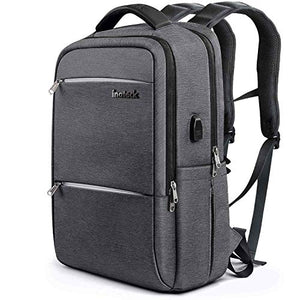 Inateck 15.6 Inch Laptop Backpack with USB-C Port, CB1001S Dark Gray (Upgraded Version)