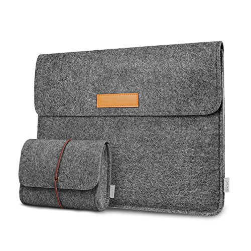 12.3-13 Inch MacBook Air/Pro/Surface Felt Laptop Sleeve SP1003, Dark Gray - Inateck Backpacks