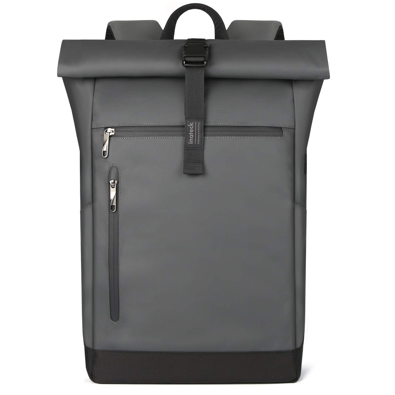 Inateck 17 Inch 25L-30L Roll Top Vintage Laptop Backpack BP01003, Gray