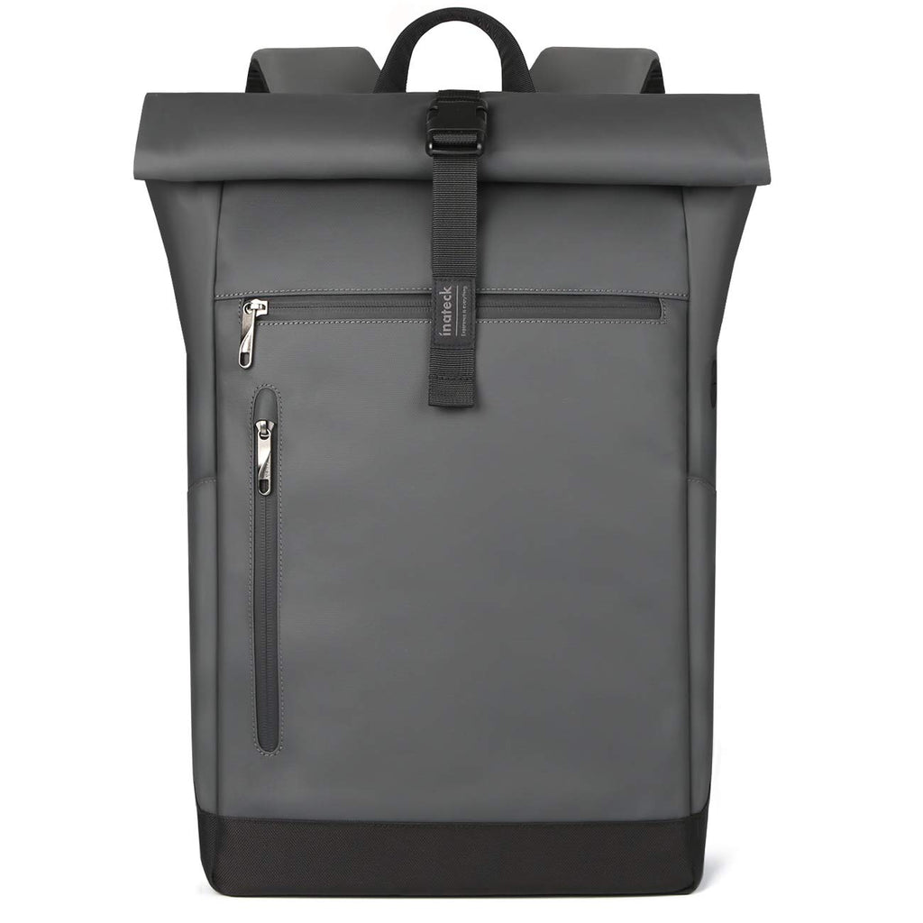 17 Inch 25L-30L Roll Top Vintage Laptop Backpack BP01003, Gray - Inateck Backpacks