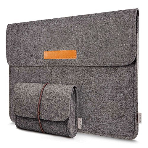 Inateck 15.4-16 Inch MacBook Pro Laptop Sleeve with Small Case, MP1500D-Dark Gray