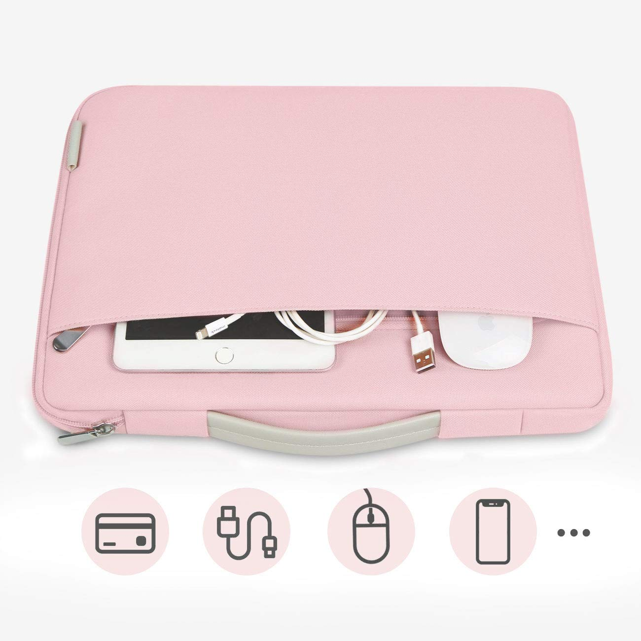 Inateck 13-13.3 Inch MacBook Air/MacBook Pro(Retina) Laptop Sleeve Case LB1302, Pink