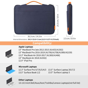 13-13.3 Inch MacBook Air/MacBook Pro(Retina) Laptop Sleeve Case LB1302, Blue - Inateck Backpacks