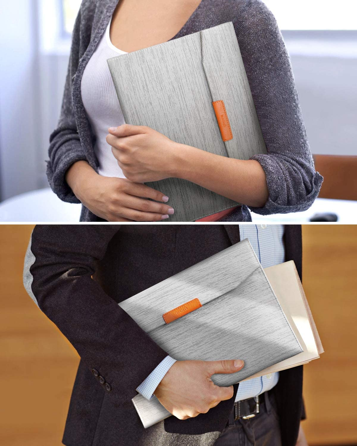 10.2 Inch iPad Tablet Sleeve Case  AB01001, Gray - Inateck Backpacks