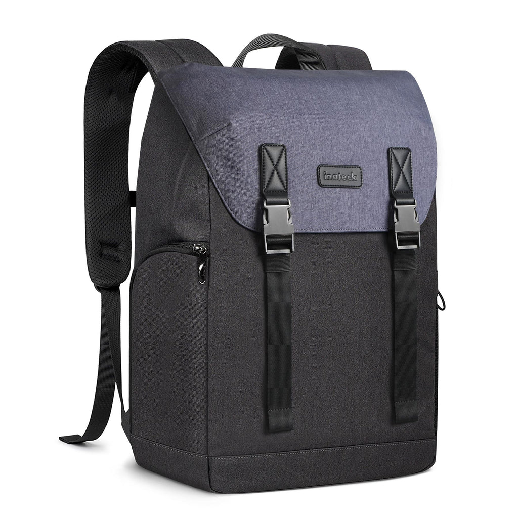25L Vintage Laptop Rucksack BP01005, Black Blue - Inateck Backpacks