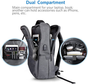 Inateck 15.6 Inch Laptop Backpack with USB Port CB1001, Black