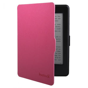Inateck Smart PU Leather Magnetic Sleep/Wake Case Cover for Kindle KPC, Red