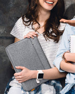 "Inateck 13-13.5"" Laptop Sleeve Carry Case with Pouch LB01005-13, Gray"