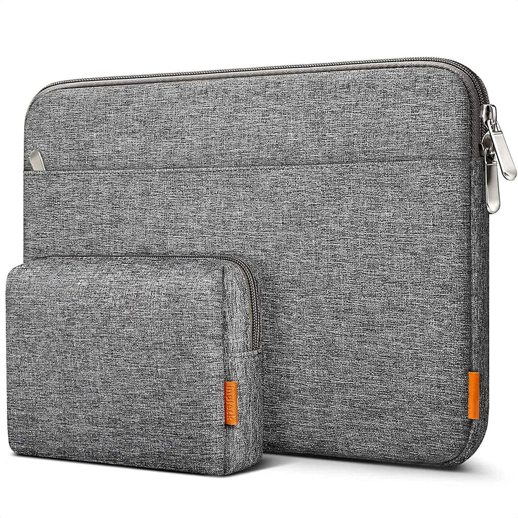 Inateck 15-15.6 Inch Laptop Sleeve Case Bag with Accessory Pouch LB01005-15, Gray