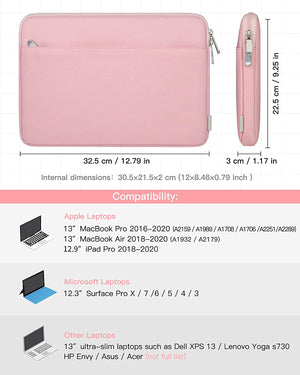 12.3-13 Inch Laptops Sleeve 13 Inch New MacBook Pro Case LB01005, Pink - Inateck Backpacks