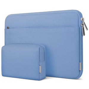 "13-13.5"" Laptop Sleeve Carrying Case with Accessory Pouch LB01005-13, Sky Blue - Inateck Backpacks"