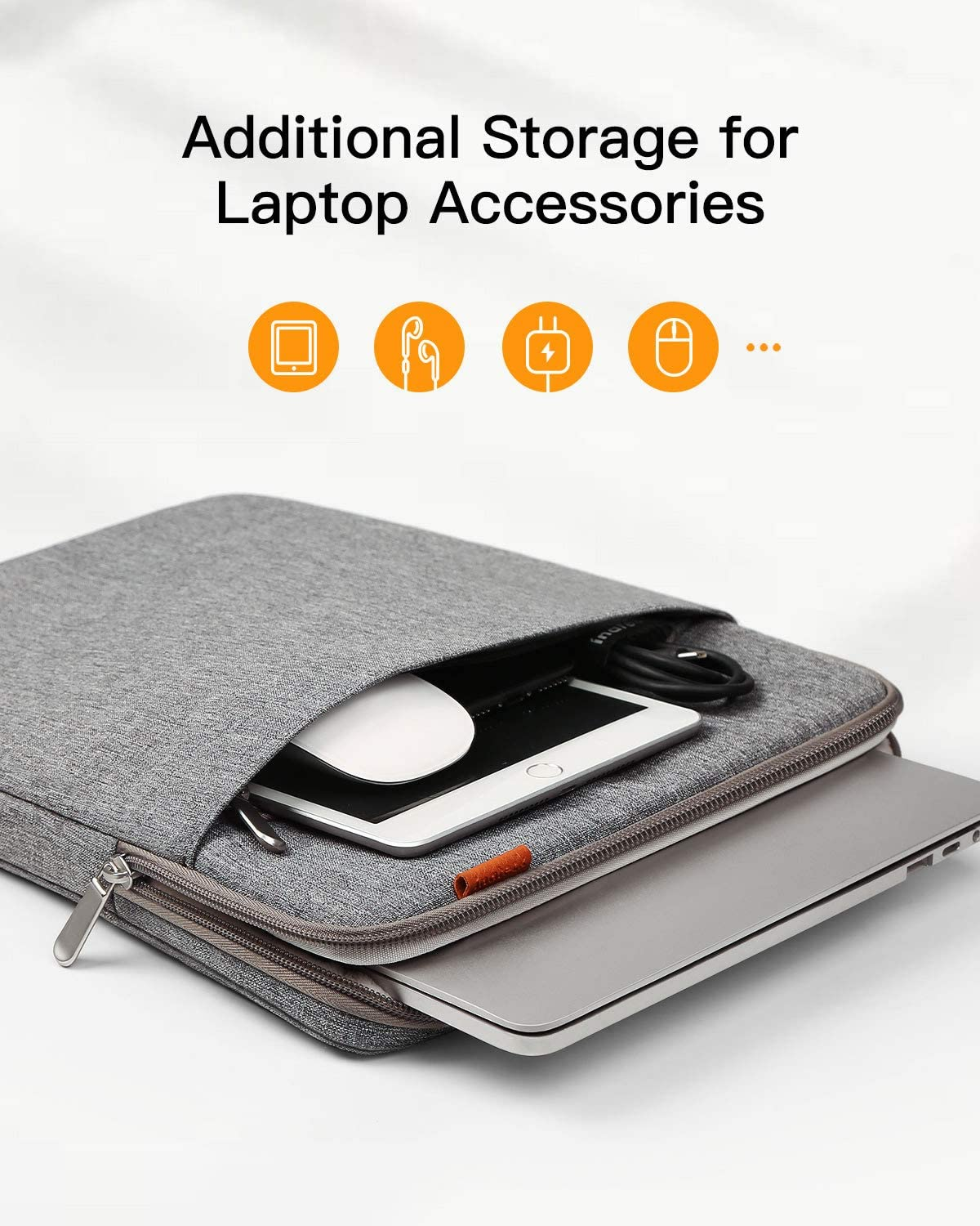 Inateck 13-13.3 Inch 360 Degree Shockproof Laptop Sleeve Case LB01006-13, Gray