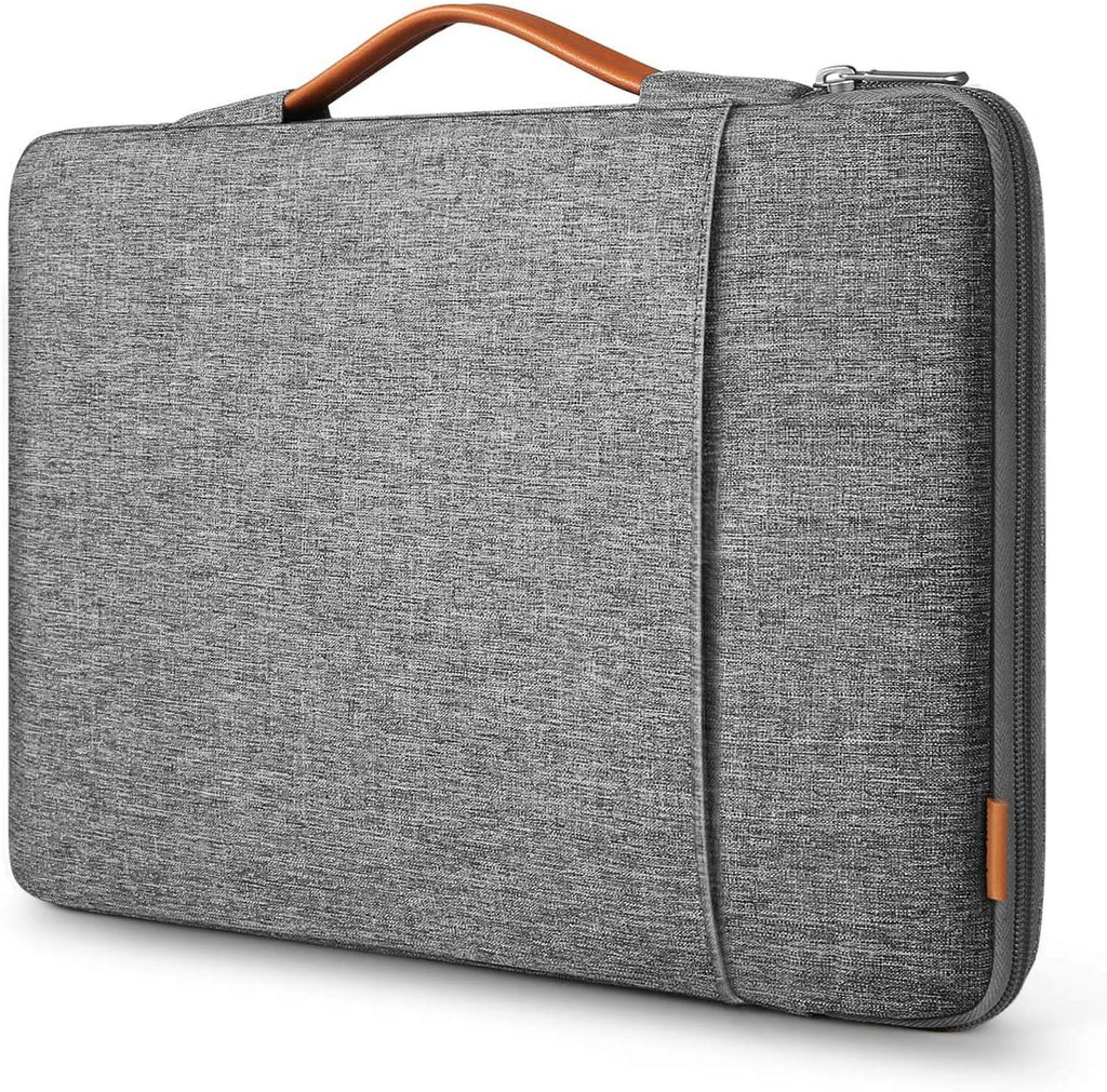 Inateck 14 Inch 360 Protection Shockproof Laptop Sleeve Carrying Case Bag Briefcase Compatible with 14 HP/Lenovo/Acer/ASUS/Dell Laptops Chromebooks Ultrabooks Netbooks LB02006-14, Gray