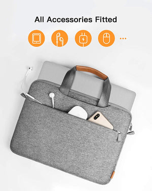 Inateck 14 Inch 360° Protective Laptop Shoulder Bag Sleeve LB03003-14, Gray