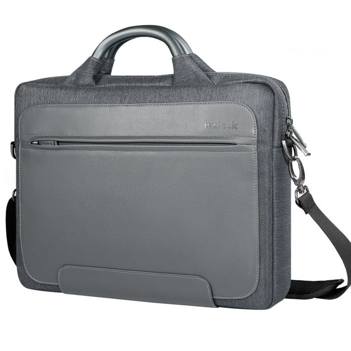 Inateck 14-14.1 Inch PU Leather Laptop Shoulder Bag LB1406, Dark Gray