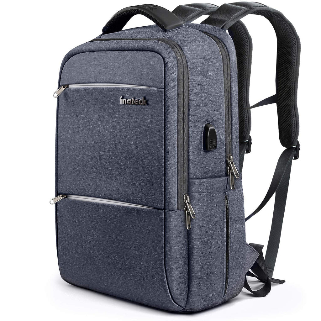 Inateck 15.6 Inch Laptop Backpack with USB Port CB1001, Gray Blue